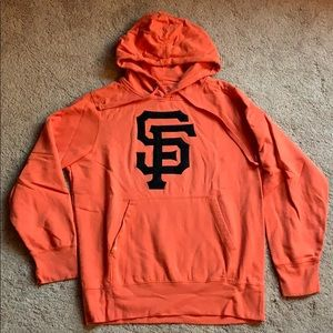 SF Giants orange logo hoodie